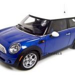 2006 Mini Cooper Diecast Model Coupe Blue 1/18 Die Cast Car by Autoart
