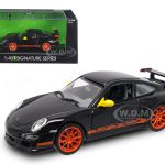 Porsche 911 997 GT3 RS Black 1/43 Diecast Model Car by Road Signature