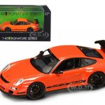 Porsche 911 997 GT3 RS Orange 1/43 Diecast Car Model by Road Signature.