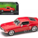 1968 Ford Mustang GT Car 1/43 Diecast Model Car by Road Signature
