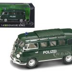 1962 Volkswagen Microbus Police Green 1/43 Diecast Car Model by Road Signature