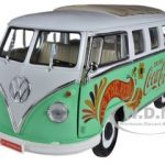 1962 Volkswagen Samba Minibus Drink Coca Cola 1/18 Diecast Car Model by Motorcity Classics