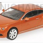 2011 Bentley Continental GT Orange Metallic Limited Edition 1 of 1008 Produced Worldwide 1/43 Diecast Model Car  by Minichamps