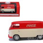 1962 Volkswagen Panel Van/Bus Minivan Drink Coca Cola Red/Cream 1/43 Diecast Model Car by Motorcity Classics