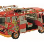 Volkswagen T1 Samba Bus Hippie with Roof Tracks and Surfboards Limited Edition to 1500pcs 1/18 Diecast Model Car by Schuco