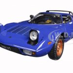 Lancia Stratos Stradale Blue 1/18 Diecast Model Car by Sunstar