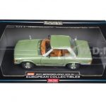 1977 Mercedes 350 SL Hard Top Coupe Silver Green 1/18 Diecast Model Car by Sunstar