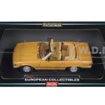 1977 Mercedes 350 SL Open Convertible Cayenne Orange 1/18 Diecast Model Car by Sunstar