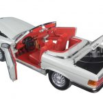 1977 Mercedes 350 SL Open Convertible Pastellgrau 1/18 Diecast Model Car by Sunstar