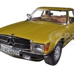 1977 Mercedes 350 SL Hard Top Coupe Gold 1/18 Diecast Car Model by Sunstar