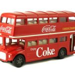 1960 Routemaster London Double Decker Bus Coca-Cola 1/64 Diecast Model by Motorcity Classics