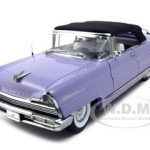 1956 Lincoln Premiere Purple Closed Convertible Platinum Edition 1/18 Diecast Model Car by Sunstar