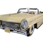 1958 Lincoln Continental MKIII Open Convertible Champagne Platinum Edition 1/18 Diecast Model Car by Sunstar