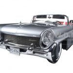 1958 Lincoln Continental MK III Open Convertible Silver/Gray Platinum Edition 1/18 Diecast Model Car by Sunstar