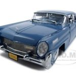 1958 Lincoln Continental Mark III Seneca Blue Platinum Edition 1/18 Diecast Model Car by Sunstar