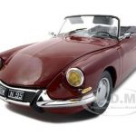 Citroen DS 19 Convertible Rouge Carmin/Red Platinum Edition 1/18 Diecast Car Model by Sunstar