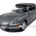 Citroen DS 21 Convertible Gray Platinum Edition 1/18 Diecast Car Model by Sunstar