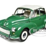 1963 Morris Minor 1000 Convertible Almond Green 1/12 Diecast Car Model by Sunstar