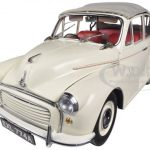 1965 Morris Minor 1000 Tourer Old English White 1/12 Diecast Model Car by Sunstar