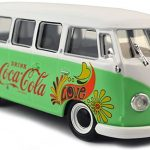 1959 Volkswagen T1 Samba Bus Coca Cola Flowers Version 1/43 Diecast Model by Motorcity Classics