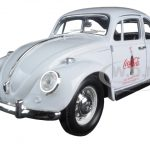 1967 Volkswagen Beetle Celebrating 100 years of the Coca Cola  Contour Bottle 1/24 Diecast Model Car by Motorcity Classics
