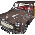 1967 Morris Minor 1000 Traveller Peat Brown 1/12 Diecast Car Model by Sunstar