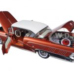 1958 Buick Limited Riviera Coupe Garnet Red/Glacier White Platimun Edition 1/18 Diecast Model Car by Sunstar