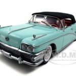 1958 Buick Limited Soft Top Green Mist Platinum Edition 1/18 Diecast Car Model by Sunstar