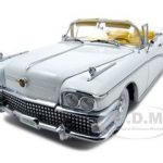 1958 Buick Limited Convertible Wells Fargo White Platinum Edition 1/18 Diecast Model Car by Sunstar