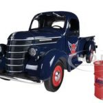 1938 International D-2 Pickup GULF Aviation Products Truck With Barrel 1/25 Diecast Model by First Gear
