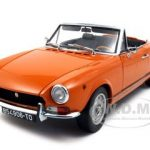 1969 Fiat 124 BS Orange Platinum Edition 1/18 Diecast Car Model by Sunstar