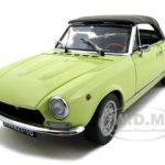 1970 Fiat 124 Spider BS1 Giallo Colorado Yellow Platinum Edition 1/18 Diecast Car Model by Sunstar