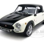 1972 Fiat 124 Spider CSA White/Black 1/18 Diecast Car Model by Sunstar