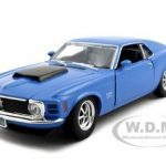 1970 Ford Mustang Boss 429 Blue 1/24 Diecast Model Car by Motormax