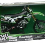 Kawasaki KX 450F Two Two Motorsports Chad Reed #22 Dirt Bike Motorcycle 1/6 Diecast Model by New Ray