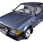 1983 Ford Escort XR3i Saloon Caspian Blue 1/18 Diecast Car Model by Sunstar