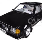 1983 Ford Escort XR3i Saloon Black 1/18 Diecast Car Model by Sunstar