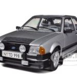 1984 Ford Escort RS1600i Strato Silver 1/18 Diecast Car Model by Sunstar