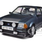 1984 Ford Escort RS1600i Caspian Blue 1/18 Diecast Car Model by Sunstar