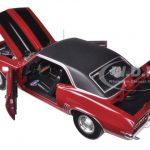 Carquest 1969 Chevrolet Camaro Z28 Burgundy with Black Stripes 1/25 Diecast Model Car by First Gear
