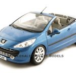 Peugeot 207CC Convertible Blue 1/18 Diecast Car Model by Norev