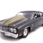 1970 Chevrolet Chevelle Pro Street SS 454 Black 1/24 Diecast Car Model by Unique Replicas