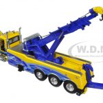 Peterbilt 367 with Century Rotator Wrecker Tow Truck Yellow and Blue 1/50 Diecast Model by First Gear