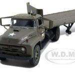 Ford F-800 Flatbed Trailer U.S. Army Diecast Model 1/50 by First Gear
