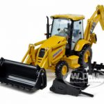 Komatsu WB146 Backhoe Loader With Attachements 1/50 Diecast Model by First Gear