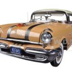 1955 Pontiac Star Chief Hard Top Firegold / White Mist 1/18 Diecast Model Car by Sunstar