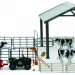 Dairy Cow Farm Deluxe Set 1/18 by New Ray