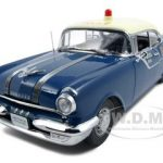 1955 Pontiac Star Chief Police Platinum Edition 1/18 Diecast Model Car by Sunstar