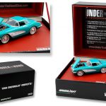 1958 Chevrolet Corvette Turquoise Under The Hood 1/64 Diecast Model Car by Greenlight