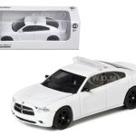 2012 Dodge Charger Unmarked White Police Interceptor 1/64 Diecast Car Model by Greenlight